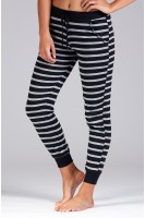 Striped Knot Jogger in Black/Grey