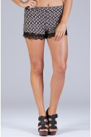 Abstract Diamond Print Shorts
