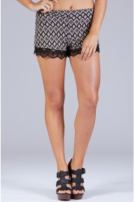 Abstract Diamond Print Shorts