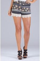 Printed Shorts w/Trim