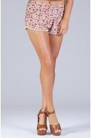 Vintage Floral Printed Rustic Shorts
