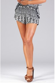 High Waisted Printed Shorts