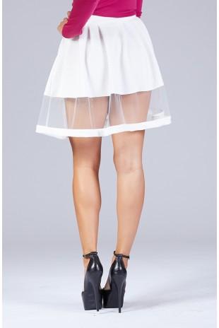 Sheer Panel Skirt