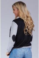 Girls Just Want Funds Sweatshirt in Black/Grey
