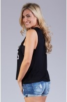 Good vibes muscle tank in black