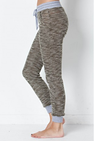 Marled Knit Pants in Olive
