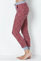 Marled Knit Pants in Ruby