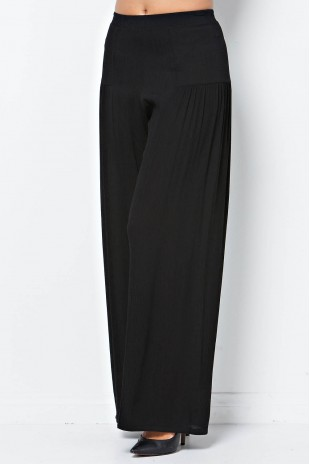 Wide Leg Pant in Black