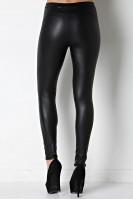 Faux Leather Legging in Black