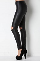 Faux Leather Legging in Black