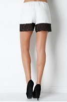 Lace Trim Shorts in Ivory