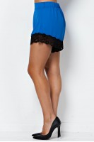 Lace Trim Shorts in Royal