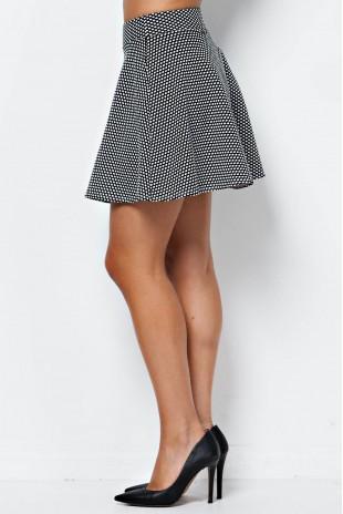 Texture Knit Skirt in Black/White