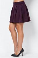 Texture Knit Skater Skirt in Berry